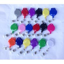 Plastic / Metal Retractable Custom ID Card Holder Badge Reels para Lanyards
