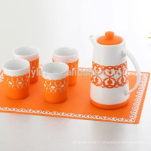 service à thé en silicone de haute qualité