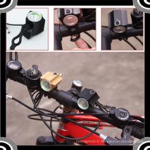 2015 POPPAS YZL864 Waterproof 600lm 1 * T6 LED avec 4 * 18650 Battery Bicycle Set Light