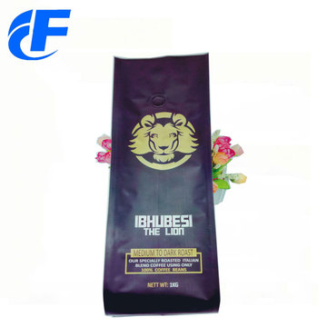 Custom logo printed laminated plastic coffee bag