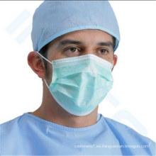 Mascarilla quirúrgica no desechable del polvo 3ply no tejido con Earloop o Tie-on