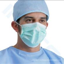Одноразовые нетканые 3 слойная пыль хирургический лицевой щиток Гермошлема с earloop или tie-на