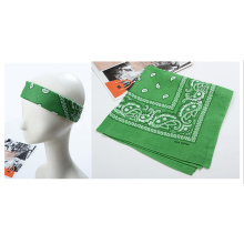 Custom Made Green Paisley Cowboy Bandannas Headscarf