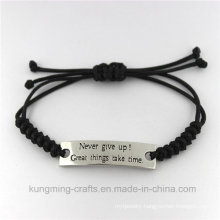 Fashion New Arrival Zircon Jewelry Curved Bracelet Leather