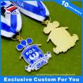 Custom Die Casting Zinc Alloy Metal Medal with Crystal