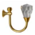 Beliebte Design Kristall Metall Vorhang Haken