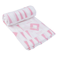 Custom printing 47*47inch cotton muslin baby swaddle blanket