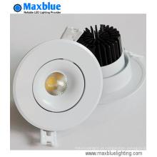 6W 9W inclinável CREE LED COB recesso luz de teto