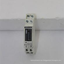 Medidor de electricidad monofásico de vatios-hora monofásicos con riel DIN RS485