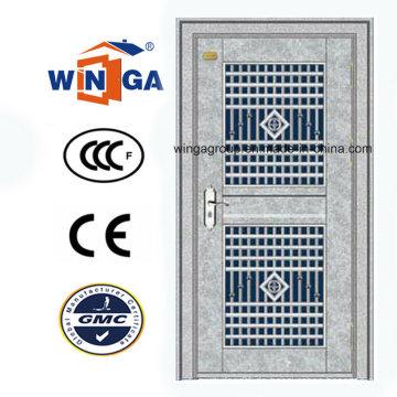 304 Edelstahl Material Außen Stahl Sicherheit Glas Tür (W-GH-25)