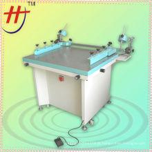 HS-6070 mão tela impressão máquina com vácuo e grampos laterais
