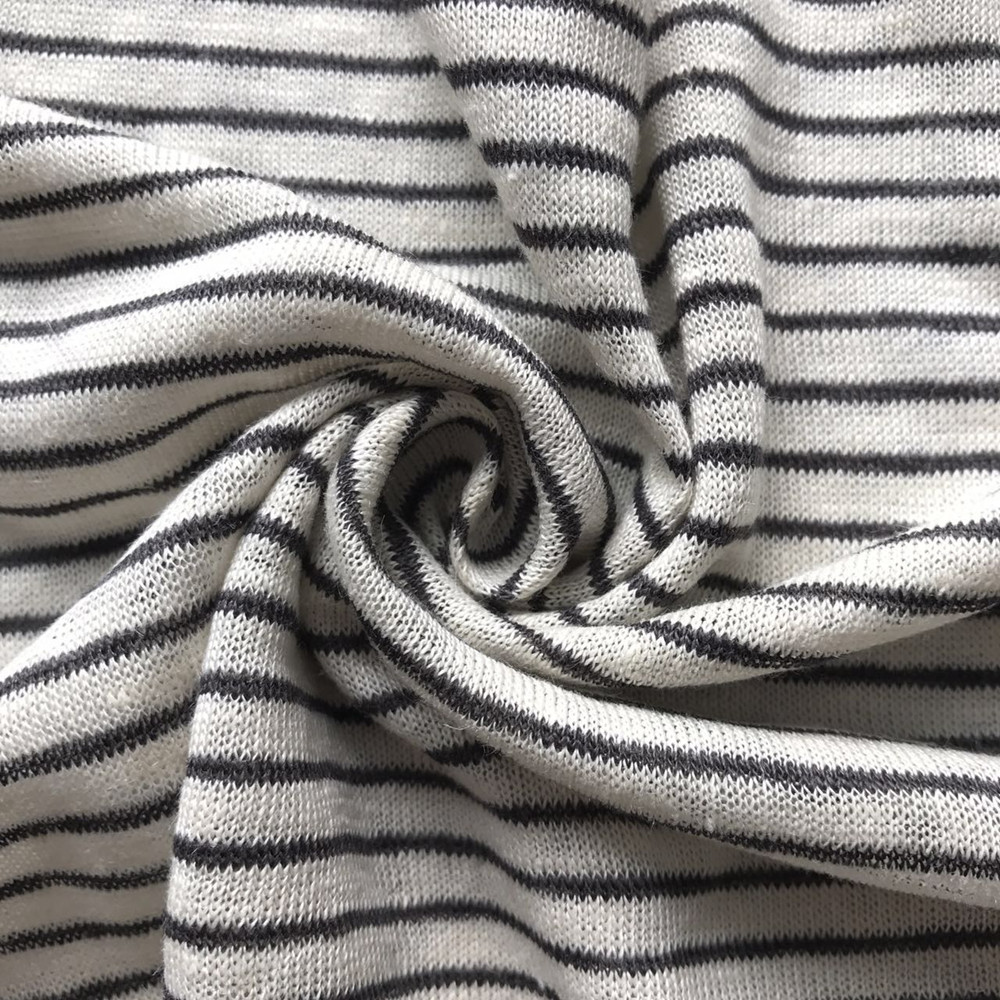 Linen viscose stripe 1