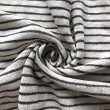 linen rayon viscose blended stripe jersey