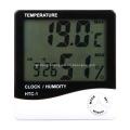 Indoor Alarm Clock Digital Temperature Humidity Meter