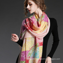 Ms Wool Geometric Patterns Printed Scarf