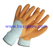 10 Gauge Polyester Liner, Latex Coating, 3/4, Crinkle Finish Glove