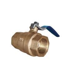 Industrial straight through type control Brass ball valve