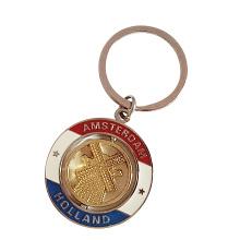 Amsterdam Pays-Bas Travel Souvenir Gift Spinning Custom Logo Keyring (F1401)