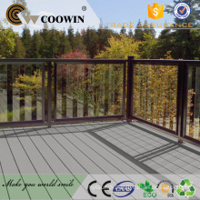 Recycled composite rubber wood floor decking