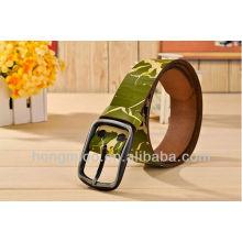 Military Green leisure printed belts men