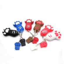 Cat kucing Custom Kartun silikon PVC USB Flash Drive U Disk
