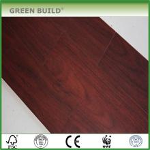 Plancher de bambou tissé solide de couleur carbonisée 14mm de Handscraped