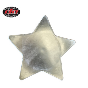 Five-pointed Star Plastic Plate with Metallic Finish