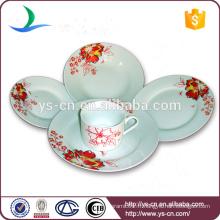 Élégantes assiettes chinoises en vaisselle en céramique blanc