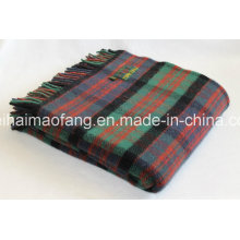 Woven Plaid Mixed 50%Wool&50%Acrylic Wool Blend Blankets& Throws