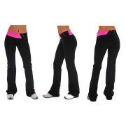 Womens 90% Nylon 10% Spandex Jersey Activewear Color Blocked Waist Yoga Fitness Pants