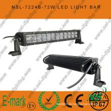 72W, 13-Zoll-LED-Arbeitslicht, 24PCS * 3W Creee LED-Lichtleiste für LKW