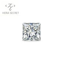 ForeverFlame  G H Princess 3ct Cut VVS1 diamond CVD CZ Moissanite chic jewelry women DE