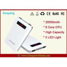 Li Ion Mobile Phone High Capacity Power Bank USB 20000mAh f