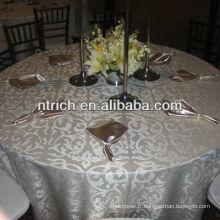 Linge de table jacquard élégante de haute qualité pour banquet