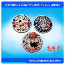 3Д монета с ярким логотипом и обычный с медным покрытием
