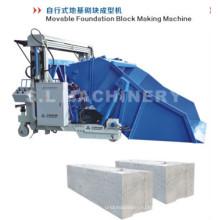 Машина для изготовления блоков фундамента для холодной зоны