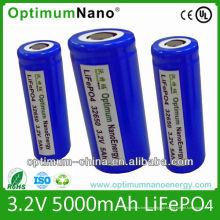 Venda quente 32650 -3.2V5ah células de bateria Li-ion