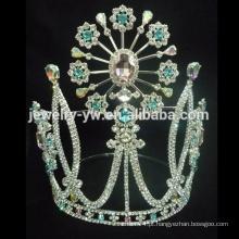 Coroa de cristal da forma para a mulher da fábrica da jóia do zhanggong