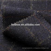 Шерсть темно-донегал твид overcheck ткань ,материал подходит для пальто и костюмов.