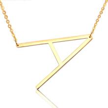 Hot 26 English Alphabet Letra inicial AZ Name Collar de gargantilla colgante de acero inoxidable