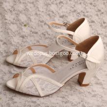 Wedding Block Heeled Shoes Sandals