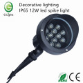 Iluminação decorativa IP65 12W led spike light