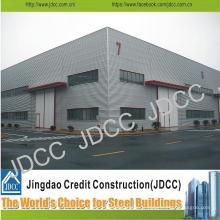 Bâtiment d'entrepôt de structure en acier légère de galvanisation de haute qualité