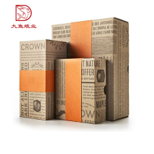 Customized size popular selling gift candle packaging box