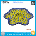 Colorful Deviled Egg Plate Decorated with Small Petal Deviled Egg Plate