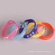 Bracelets faits sur commande de PVC doux faits sur commande élastiques d'échantillon 2015