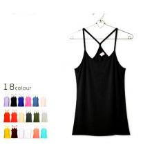 Soem-Qualitäts-Unterhemd-einfaches Baumwollfrauen-Trägershirt