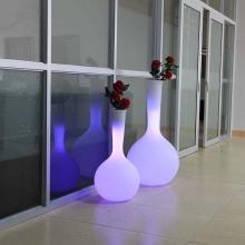 Potenciômetro de flor iluminado plástico Decoração de casa LED Plantador