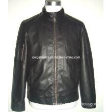 PU Man's Black Jacket (CMP052)