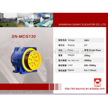 Aufzug Motor-VVVF Traktion Maschine SN-MCG130 320kg - 2500kg